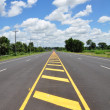 Stock Photo: Asphalt road with sky