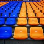 Color seat in football stadium — Stock Photo