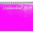 Royalty-Free Stock Photo: Pink color calendar as white isolate background