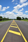 Asphalt road with sky — Stock Photo