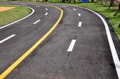 微茫线曲线道路上 — 图库照片