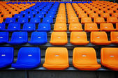 Color seat in football stadium — Stock Photo