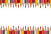 Colorful pencil as white isolate background — Stock Photo