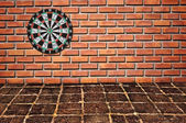 Sucess target on brickwall — Stock Photo