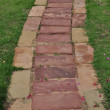 Stone floor walk way — Stockfoto