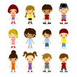 Kids Models Set — Stock Vector