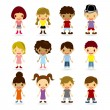 Stock Vector: Kids Models Set