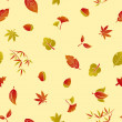 Seamless Autumn Foliage Pattern — Stock Vector