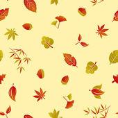 Seamless Autumn Foliage Pattern — Stock Vector