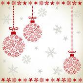 Abstract christmas ball background — Vector de stock