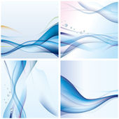 Abstract blue wave background — Stock Vector