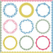 Abstract retro frame elements set - Stock Vector