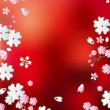 Royalty-Free Stock Vector Image: Abstract red blossoms background