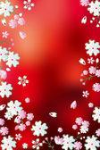 Fondo abstracto flores rojas — Vector de stock