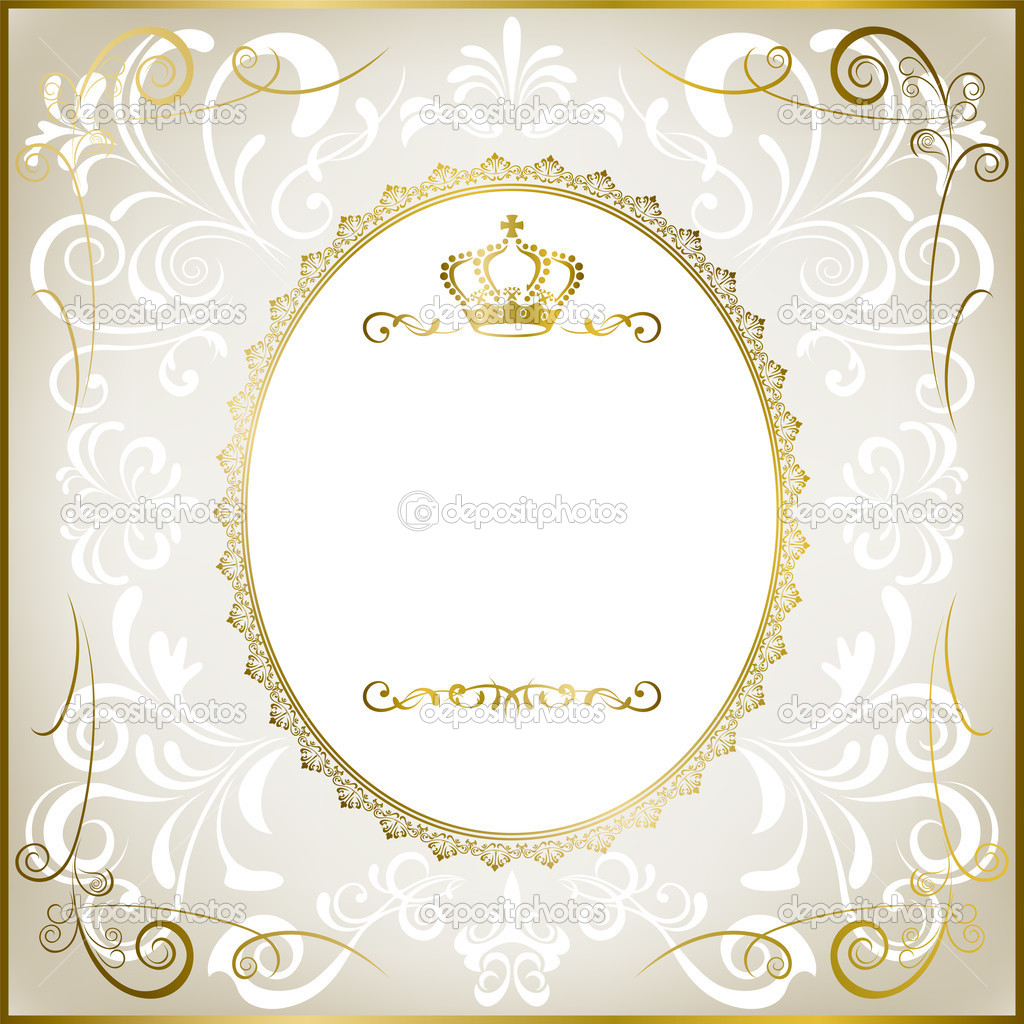 Abstract white romantic frame - Stock Illustration