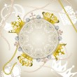 Royalty-Free Stock Vector Image: Decoration crowns frame