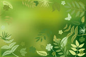 абстрактный характер зеленый фон — Cтоковый вектор