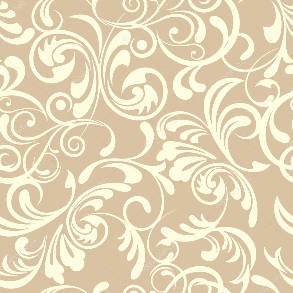 Abstract seamless floral pattern  Imagen vectorial #4928174