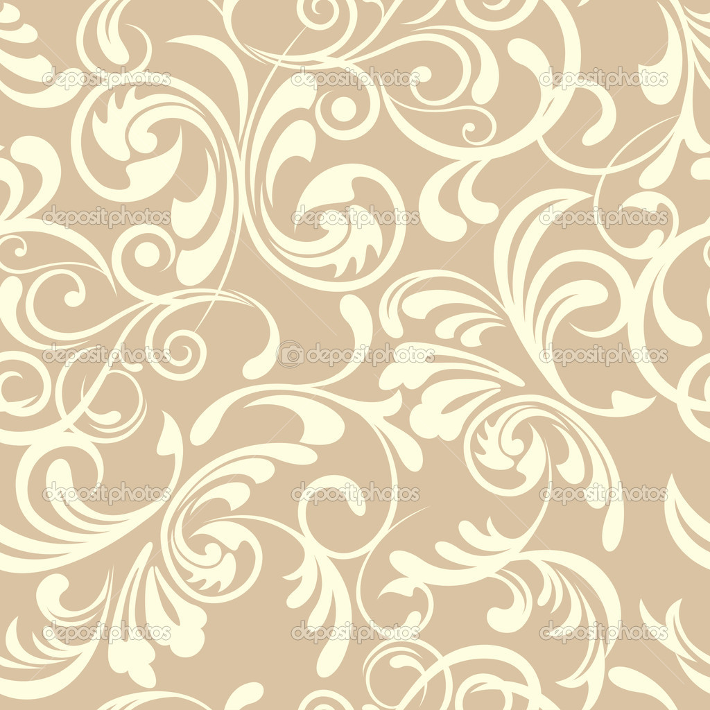 Abstract seamless floral pattern  Stock vektor #4928174