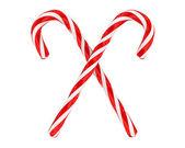 Cruzado dos dulces de navidad aislados — Foto de Stock
