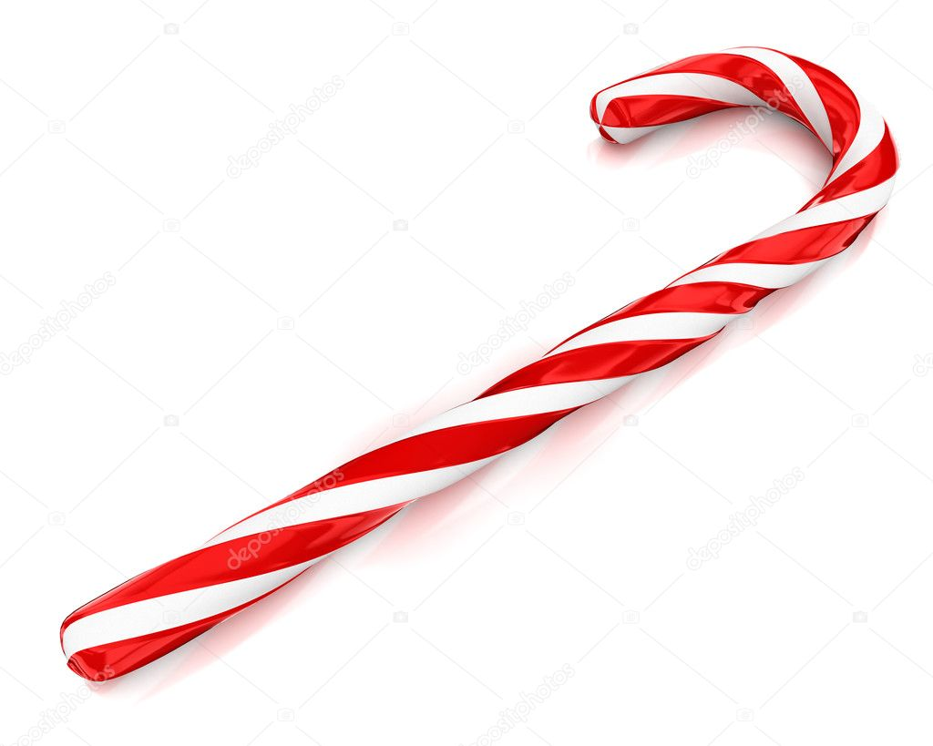 Candy Canes Making A Border On A White Background Christmas Candy