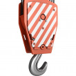 Red crane hook — Stock Photo