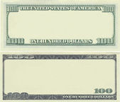 Clear 100 dollar banknote pattern — Stock Photo