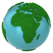 Globe of grass and water, Africa part — Stock Photo