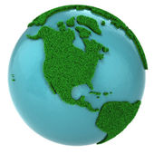Globe of grass and water, North America part — Stock Photo