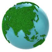 Glob trawy i wody, część azji — Zdjęcie stockowe
