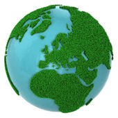 Globe of grass and water, Europe part — Stock Photo