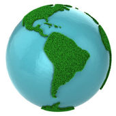 Globe of grass and water, South America part — Stock Photo