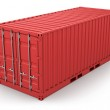 Red freight container isolated — Stock Photo #5268846