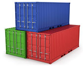 Three freight containers — Stock Photo