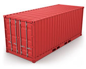 Red freight container isolated — Stock Photo