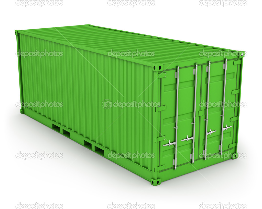 Conteneur vert isol photographie zelfit 5268843 for Container isole
