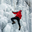 Ice climber — Stock Photo