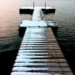 Jetty in winter — Stock Photo