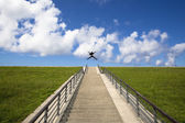 The stairs to the success — Stock Photo