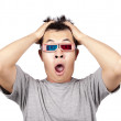 3D glasses and shocked man — Stock Photo #4097090