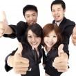 éxito y joven equipo de negocios — Foto de Stock