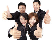 Young and success business team — Stock Photo