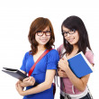 Pretty girl and student — Stock Photo