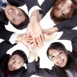 Stock Photo: Asian Young Business joining their hands