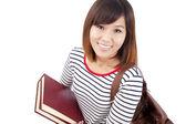 Smiling Asian university student — Stock Photo