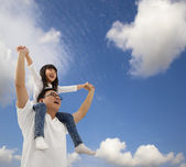 Asian father and daughter — Stock Photo