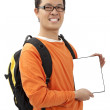 Happy young man holding a touchpad pc — Stock Photo #4706562