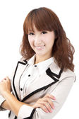 Smiling young asian businesswoman — Stock Photo