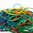 Pile of Multi-Colored Rubber Bands — Stock Photo