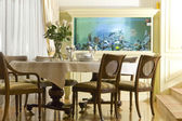 Interior of a dinning room — Stock Photo